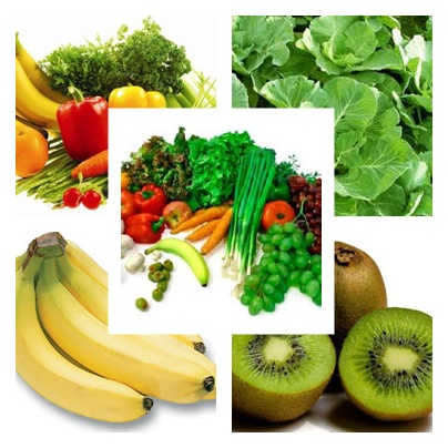 mix Fruits and vegetables.
